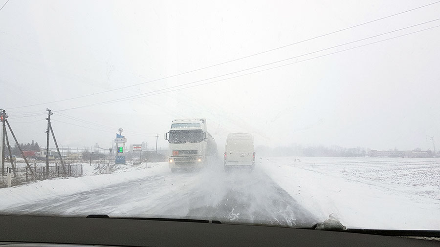 Зимняя дорога во Львов